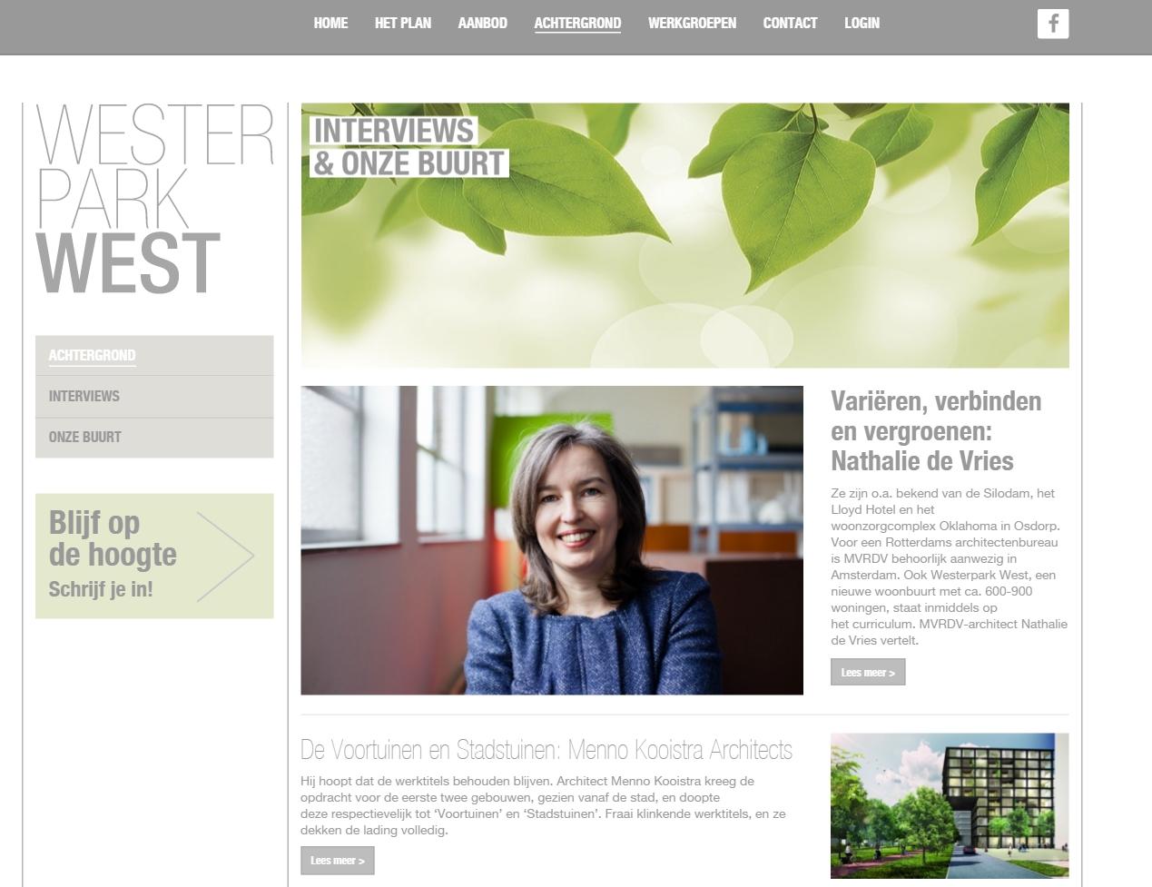 Contentmanagement Westerpark West